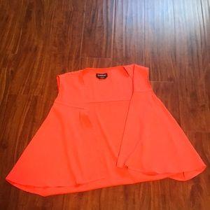 Neon orange vest